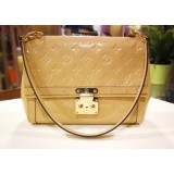 LOUIS VUITTON Vernis Monogram Beige Bag