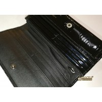 BURBERRY Embossed Check Patent Leather Continental Wallet