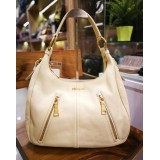 PRADA Light Yellow Hobo Bag