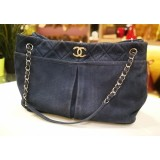 CHANEL Suede Leather Natural Beauty Tote Bag