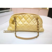 CHANEL Mademoiselle Leather Bowling Bag