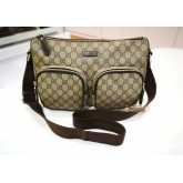 GUCCI GG Coated Canvas Front Pocket Messenger Bag