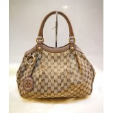 GUCCI Sukey Medium GG Canvas Tote Bag