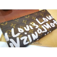 LOUIS VUITTON Monogram Graffiti Pochette Porte Monnaie Wallet