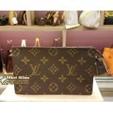 LOUIS VUITTON Monogram Canvas Pouch Bag With Ring
