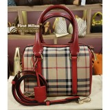 BURBERRY Horseferry Check Small Alchester Bowling Bag