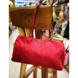 PRADA Nylon Red Shoulder Bag