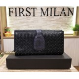 BOTTEGA VENETA Black Long Wallet
