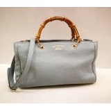 GUCCI Exclusive Bamboo Shopper Leather Tote Bag