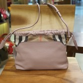 BURBERRY The Little Crush In Leather & House Check