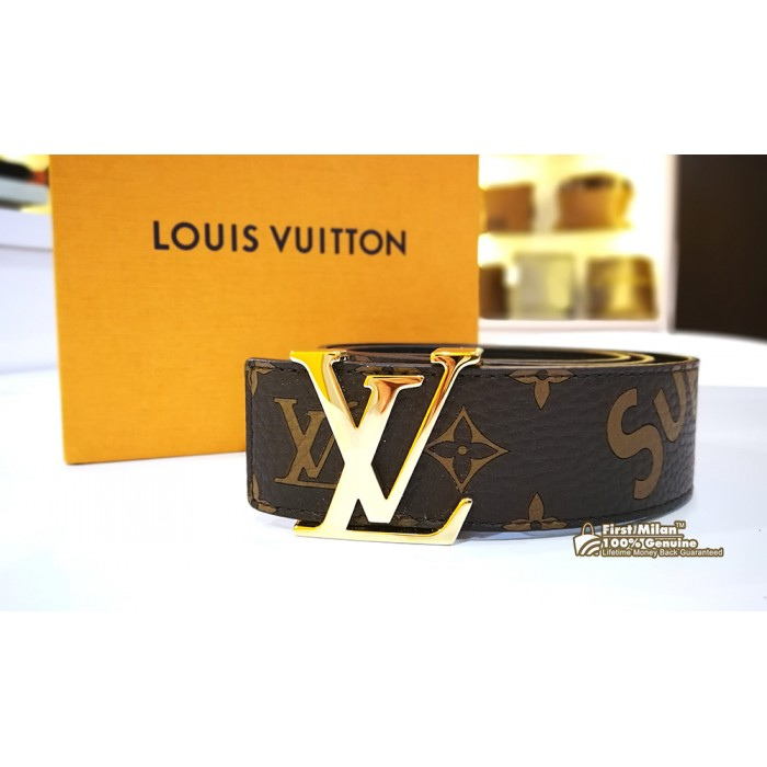 74e23d101d76 LOUIS VUITTON x SUPREME Monogram Initial 40 Belt (Size 90 36)