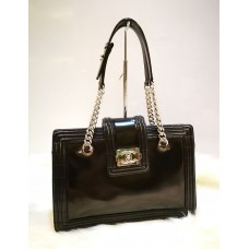 CHANEL Smooth Calfskin Leather Boy Small Tote