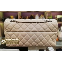 CHANEL Easy Flap Bag Quilted Caviar Jumbo