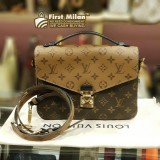 LOUIS VUITTON Monogram Canvas Pochette Metis Crossbody Handbag