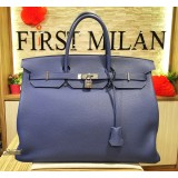 HERMES Birkin 40 Togo Leather Blue Brighton (SHW)