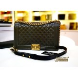 CHANEL Black Quilted Paris-Salzburg Boy New Medium
