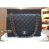 CHANEL Classic Maxi Flap SHW In Caviar