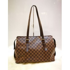 LOUIS VUITTON Damier Ebene Chelsea Large Shoulder Bag