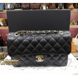 CHANEL Grained Calfskin Small Classic Handbag (GHW)