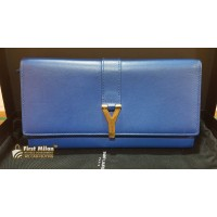 YVES SAINT LAURENT Chyc Continental Leather Wallet