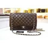 CHANEL Caviar Maxi Single Flap Bag With SHW