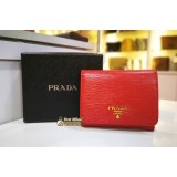 PRADA Saffiano Leather 3 Fold Wallet