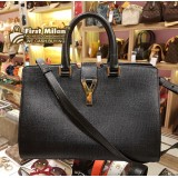 YVES SAINT LAURENT Saffiano Leather Cabas Bag