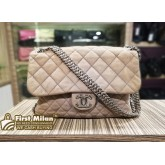 CHANEL Suede Leather Chain Around Maxi Bag