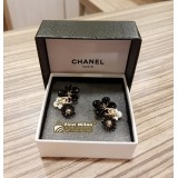 CHANEL Black & White Earrings