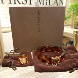 LOUIS VUITTON Resin Lockme Bangle & Ring Set