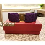 SALVATORE FERRAGAMO Vara Bow Hair Clip Purple