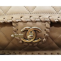 CHANEL Suede Leather Shoulder Bag