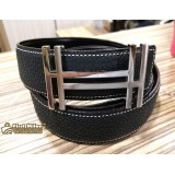 HERMES H Belt Buckle & Reversible Leather Strap 32MM (Size:110)