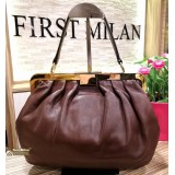 MIU-MIU Brown Top Handle Bag