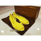 GUCCI Jelly Yellow Shoes (Size:38)