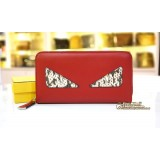 FENDI Bag Bugs Zip Around Wallet