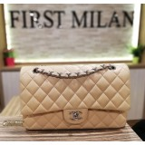 CHANEL Lambskin Medium Flap Bag