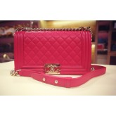 CHANEL Caviar Le Boy Flap Bag In GHW