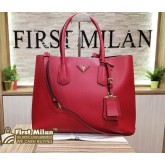 PRADA Saffiano Leather Double Bag Large