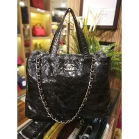 CHANEL Black Shoulder Bag With Top Handle