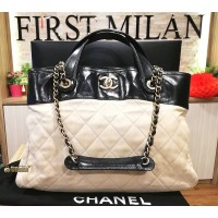 CHANEL Shopping Tote Ivory Large Bag