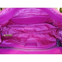 PRADA Nappa Gaufre Pink Shoulder Bag