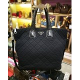 PRADA Nylon Tessuto Two Way Tote Large Bag