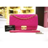 CHANEL Jersey Flap With Retro Clasp In Pink