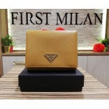 PRADA Saffiano Gold Color Wallet
