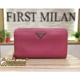 PRADA Saffiano Zip Around Long Wallet