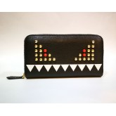 FENDI Monster Bugs Zip Around Long Wallet