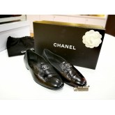CHANEL Leather Flats (Size:36C)