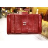 CHANEL Lambskin Red Wallet