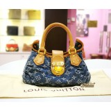 LOUIS VUITTON Denim Blue Monogram Pleaty Handbag